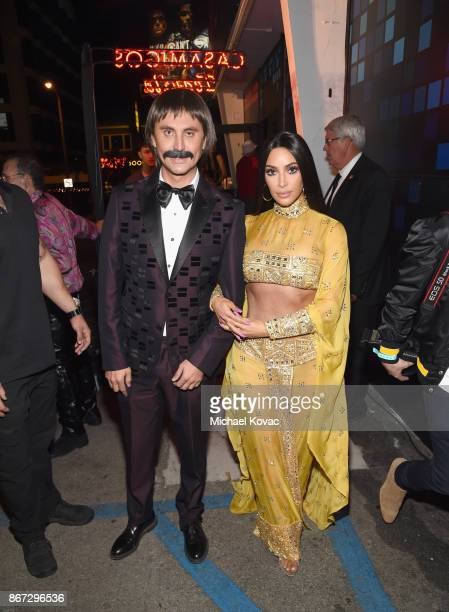 Kim Kardashian and Jonathan Cheban attend Casamigos Halloween Party on October 27 2017 in Los Angeles California