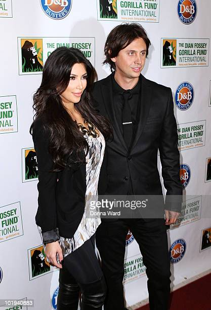 Kim Kardashian and Jonathan Cheban attends the Celebrity Skee Ball Tournament benefiting the Dian Fossey Gorilla Fund International at Dave Buster's...