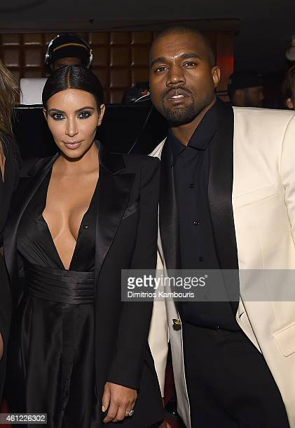 Kim Kardashian and Kaney West attend John Legend Celebrates His Birthday And The 10th Anniversary Of His Debut Album 'Get Lifted' at CATCH NYC on...