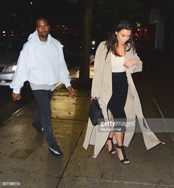 Kim Kardashian and Kanye West are seen in Soho on May 1, 2016 in New York City.