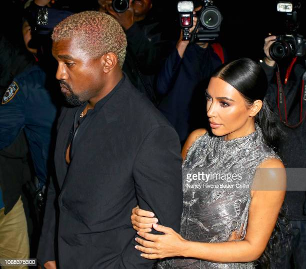 Kim Kardashian and Kanye West are seen on December 03 2018 in New York City