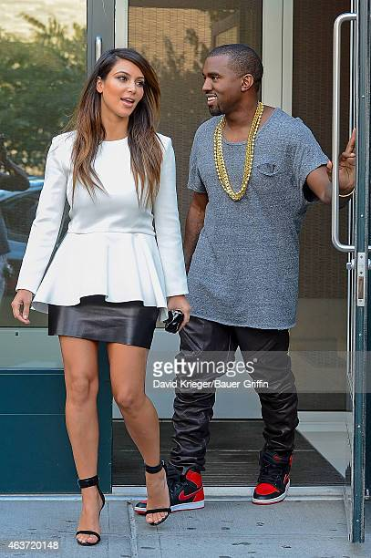 Kim Kardashian and Kanye West are seen on September 01 2012 in New York City