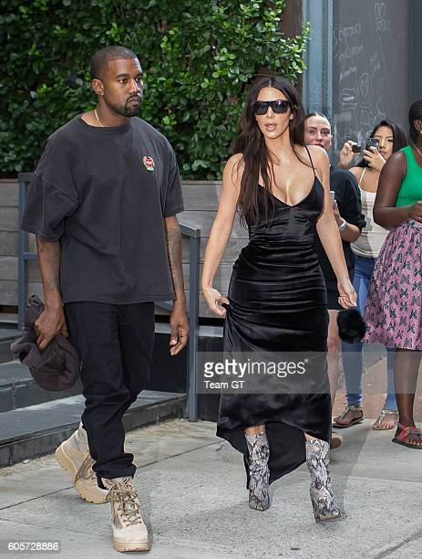 Kim Kardashian and Kanye West are seen on September 14 2016 in New York City