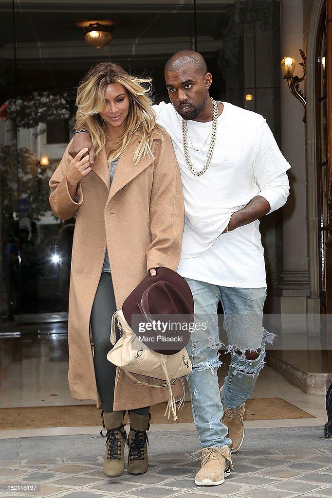 Kim Kardashian & Kanye West Sighting In Paris : News Photo
