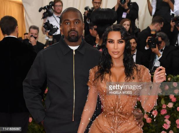 Kim Kardashian and Kanye West arrive for the 2019 Met Gala at the Metropolitan Museum of Art on May 6 in New York. - The Gala raises money for the...