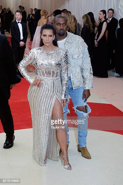 Kim Kardashian and Kanye West attend 'Manus x Machina Fashion in an Age of Technology' the 2016 Costume Institute Gala at the Metropolitan Museum of...