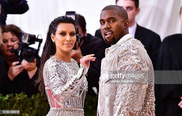 Kim Kardashian and Kanye West attend 'Manus x Machina Fashion in an Age of Technology' Costume Institute Gala at Metropolitan Museum of Art on May 2...