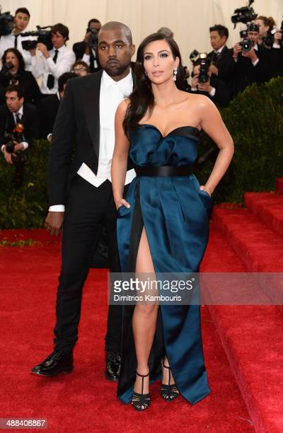 "Kim Kardashian and Kanye West attend the ""Charles James: Beyond Fashion"" Costume Institute Gala at the Metropolitan Museum of Art on May 5, 2014 in..."