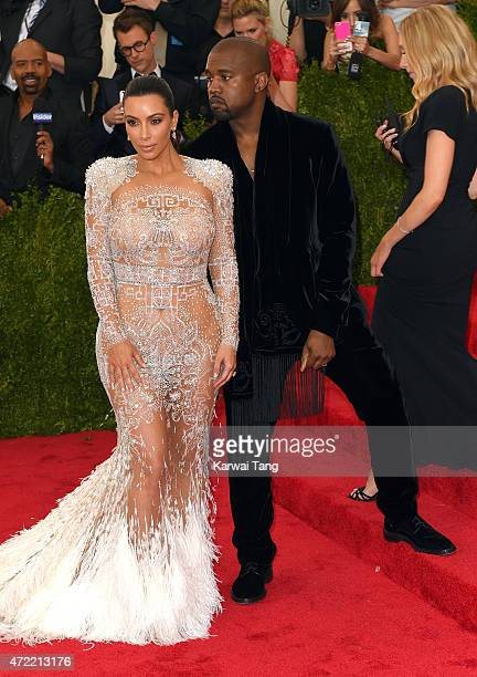 Kim Kardashian and Kanye West attend the 'China Through The Looking Glass' Costume Institute Benefit Gala at Metropolitan Museum of Art on May 4 2015...