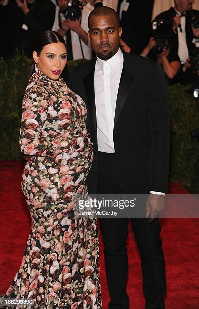 Kim Kardashian and Kanye West attend the Costume Institute Gala for the PUNK Chaos to Couture exhibition at the Metropolitan Museum of Art on May 6...