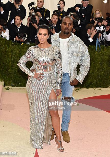 Kim Kardashian and Kanye West attend the 'Manus x Machina: Fashion In An Age Of Technology' Costume Institute Gala at Metropolitan Museum of Art on...