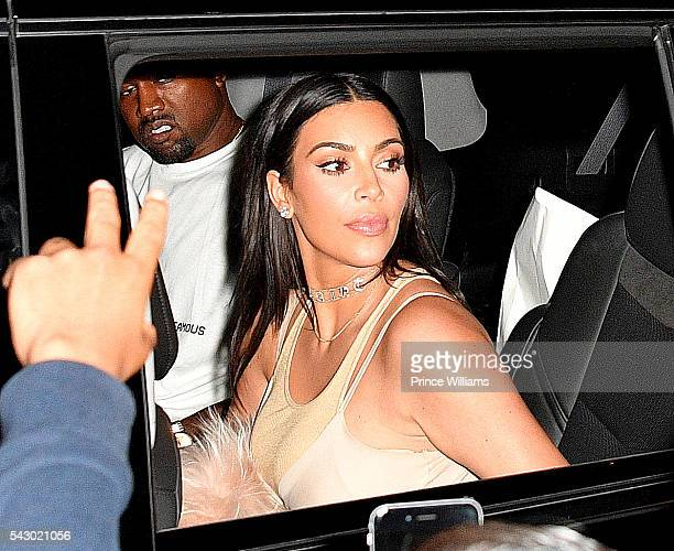Kim Kardashian and Kanye West Seen outside the Forum on June 24 2016 in Los Angeles California