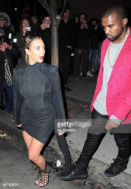 Kim Kardashian and Kayne West are seen in Soho on November 23 2013 in New York City