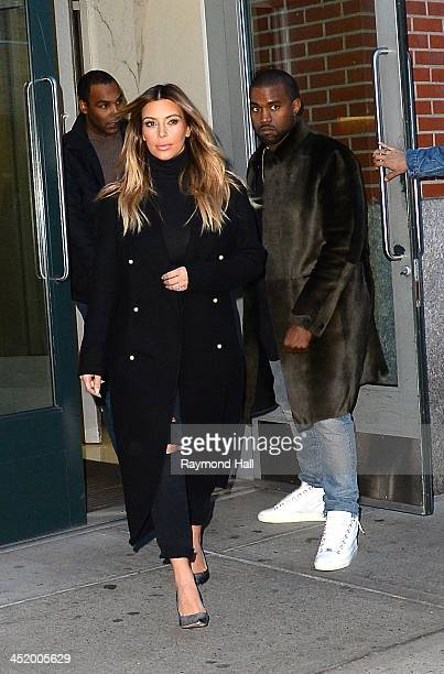 Kim Kardashian and Kayne West are seen in Soho on November 25 2013 in New York City