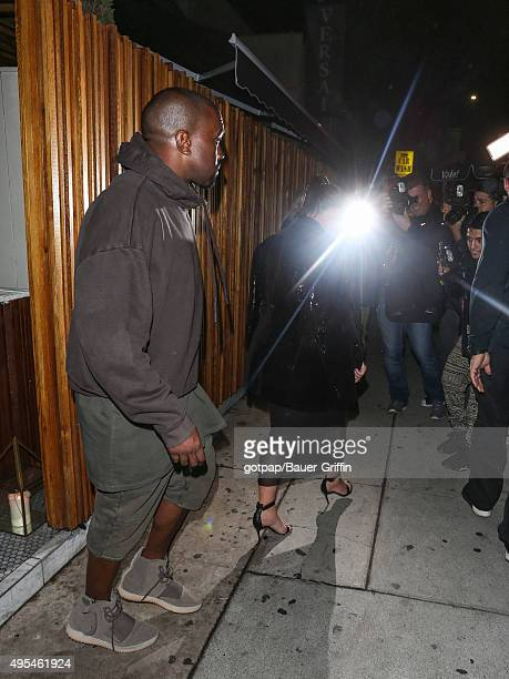 Kim Kardashian and Kayne West are seen on November 02 2015 in Los Angeles California