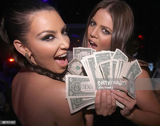 LAS VEGAS JUNE 26 Kim Kardashian and Khloe Kardashian attend Khloe's birthday at Pure Nightclub on June 26 2009 in Las Vegas NV