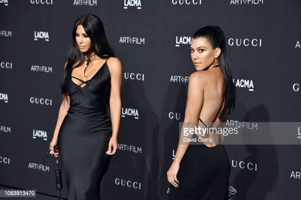 Kim Kardashian and Kourtney Kardashian attend LACMA Art Film Gala 2018 at Los Angeles County Museum of Art on November 3 2018 in Los Angeles CA