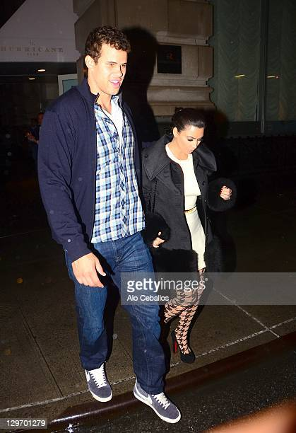 Kim Kardashian and Kris Humphries sighting on October 19 2011 in New York City