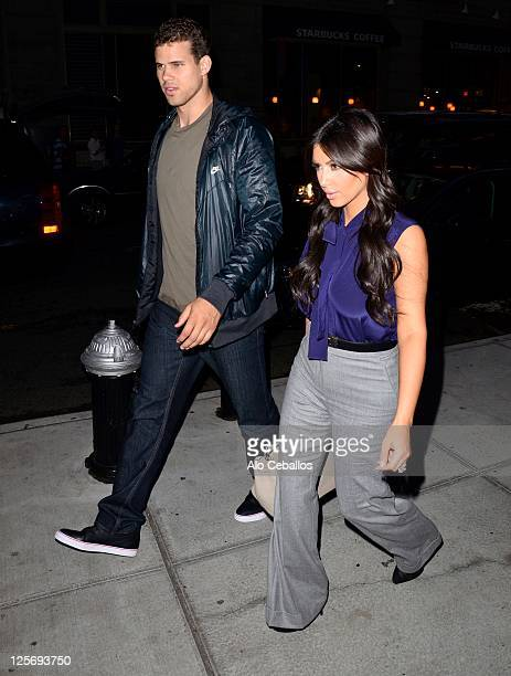 Kim Kardashian and Kris Humphries sighting on September 20 2011 in New York City