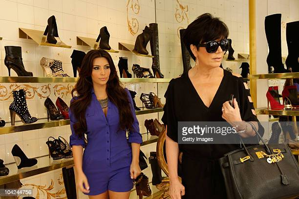 Kim Kardashian and Kris Jenner are seen shopping on September 18 2010 in Capri Italy