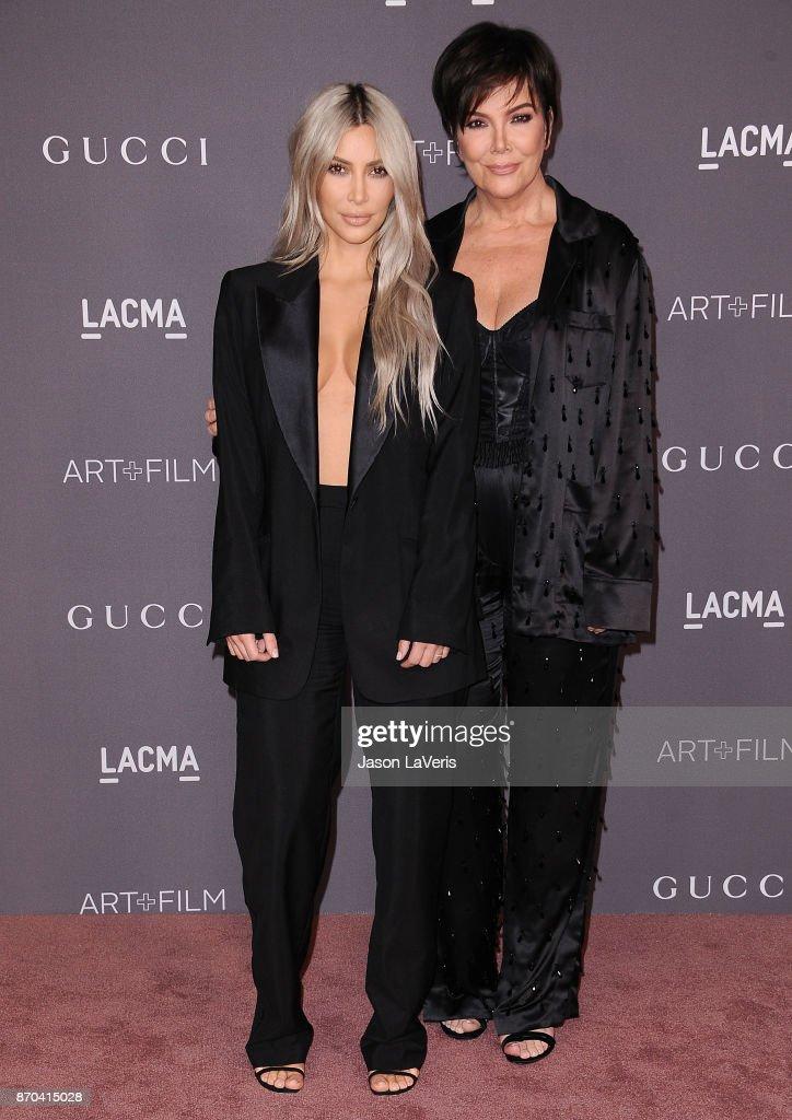 Kim Kardashian and Kris Jenner attend the 2017 LACMA Art + Film gala at LACMA on November 4, 2017 in Los Angeles, California.