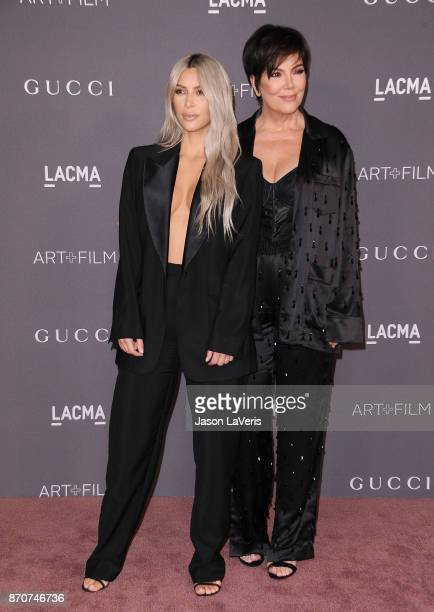 Kim Kardashian and Kris Jenner attend the 2017 LACMA Art Film gala at LACMA on November 4 2017 in Los Angeles California