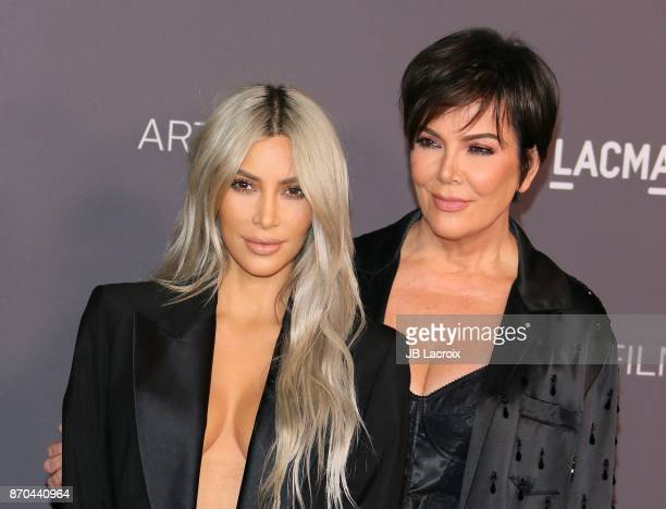 Kim Kardashian and Kris Jenner attend the 2017 LACMA Art Film Gala Honoring Mark Bradford and George Lucas presented by Gucci at LACMA on November 4...