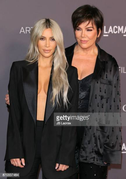 Kim Kardashian and Kris Jenner attend the LACMA Art + Film Gala honoring Mark Bradford and George Lucas on November 04, 2017 in Los Angeles,...