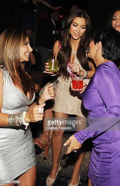 Kim Kardashian and Kris Jenner celebrate Kim Kardashian's bachelorette party at TAO Nightclub at the Venetian on July 23 2011 in Las Vegas Nevada