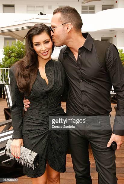 Kim Kardashian and make-up artist Troy Jensen attend the Dior Beauty Luncheon held at Hotel Shangri-La on June 3, 2009 in Santa Monica, California.