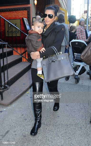 Kim Kardashian and Mason Disick out for lunch at Serafina in the city on November 13 2010 in New York City