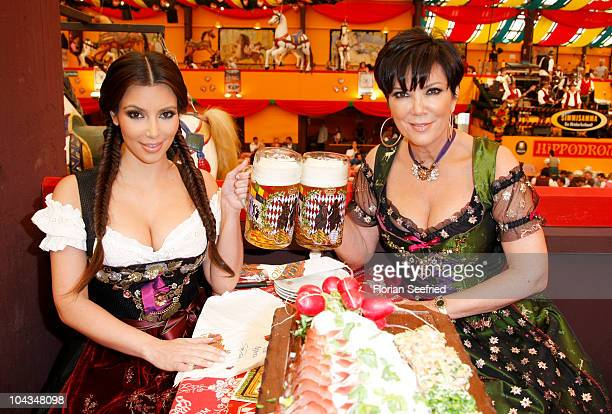 Kim Kardashian and mother Kris Kardashian visit the Oktoberfest 2010 at Hippodrom at Theresienwiese during her Munich Visit on September 22 2010 in...