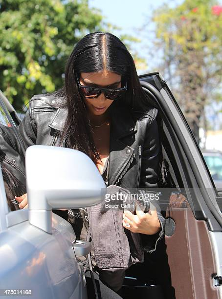 Kim Kardashian and North West are seen in Los Angeles on May 28 2015 in Los Angeles California