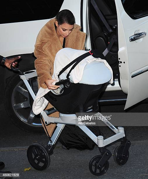 Kim Kardashian and North West are seen in Soho on November 19 2013 in New York City