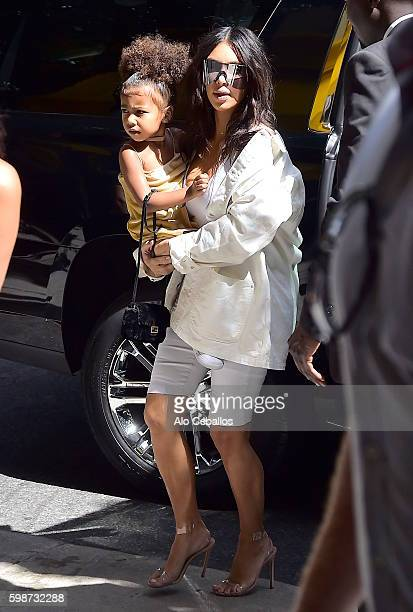 Kim Kardashian and North West are seen in Soho on September 2 2016 in New York City