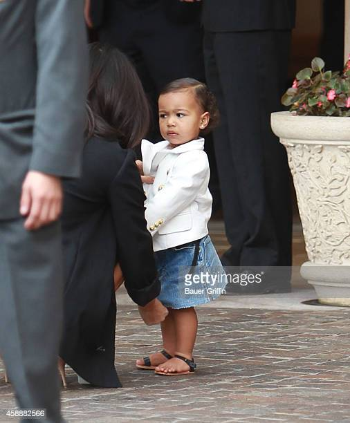 Kim Kardashian and North West are seen on November 12 2014 in Los Angeles California