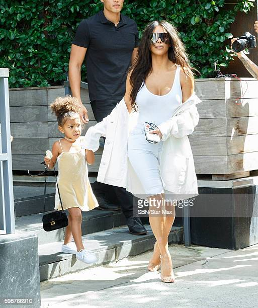 Kim Kardashian and North West are seen on September 2, 2016 in New York City.