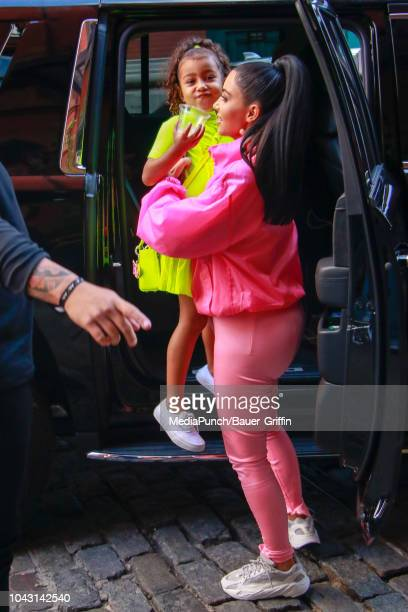 Kim Kardashian and North West are seen on September 29 2018 in New York City