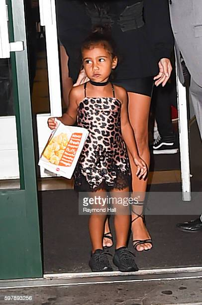 Kim Kardashian and North West are spotted in the Upper East Sid on August 29 2016 in New York City