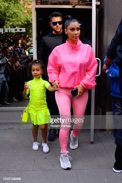 Kim Kardashian and North West seen in Manhattan on September 29 2018 in New York City