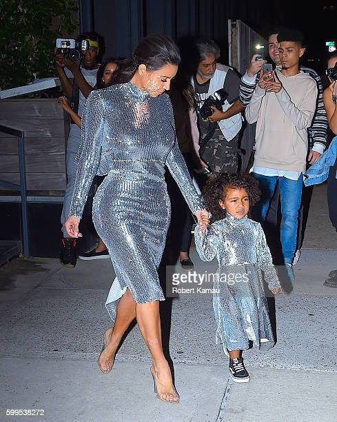 Kim Kardashian and North West seen in Manhattan on September 5 2016 in New York City