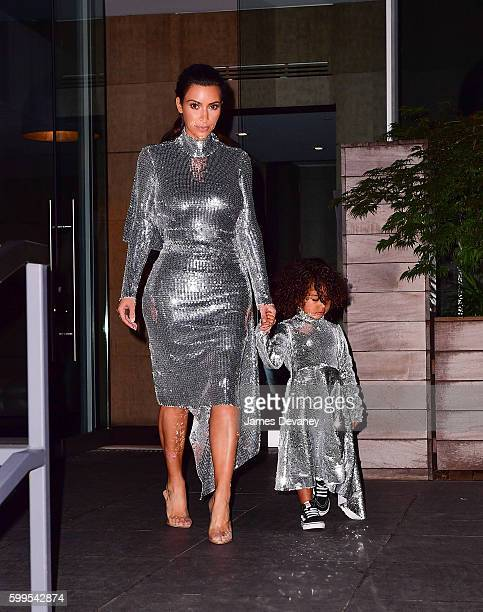 Kim Kardashian and North West seen on the streets of Manhattan on September 5 2016 in New York City