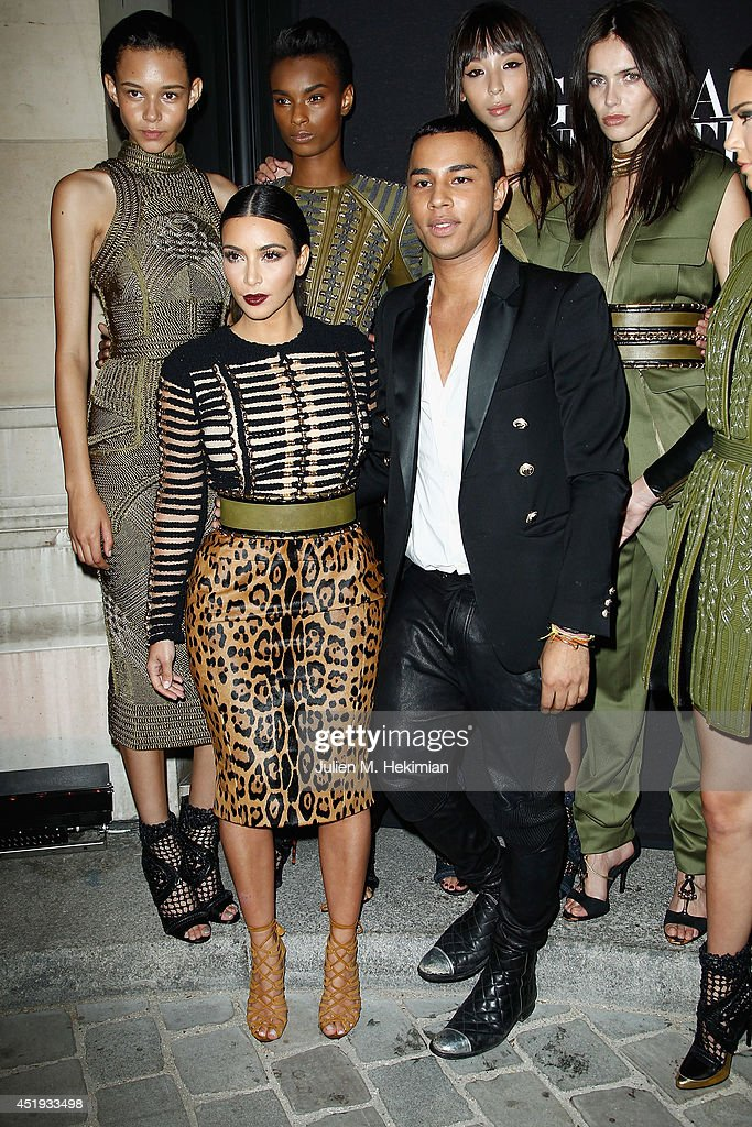 Kim Kardashian and Olivier Rousteing attend the Vogue Foundation Gala as part of Paris Fashion Week at Palais Galliera on July 9, 2014 in Paris, France.