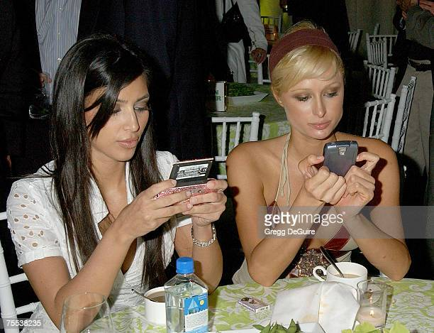 Kim Kardashian and Paris Hilton at the Cinerama Dome in Hollywood California
