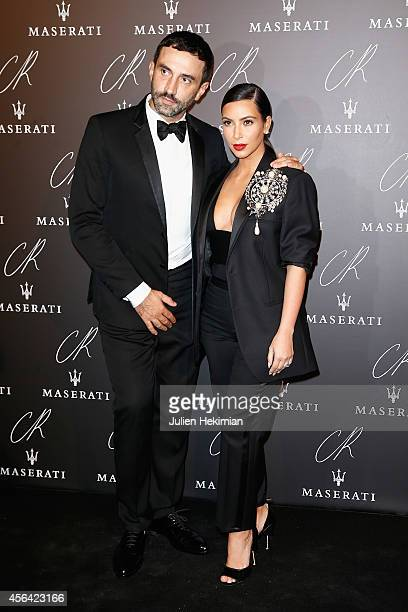 Kim Kardashian and Riccardo Tisci attend the CR Fashion Book Issue N°5 launch party as part of the Paris Fashion Week Womenswear Spring/Summer 2015...
