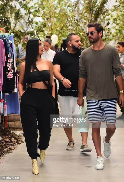 Kim Kardashian and Scott Disick are shopping in SoHo on August 2 2017 in New York City