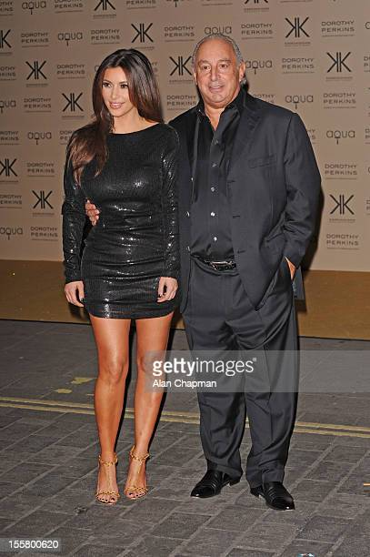 Kim Kardashian and Sir Philip Green sighting on November 8 2012 in London England