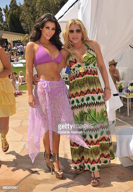 MALIBU CA MAY 24 Kim Kardashian and Taylor Dane attend Nivea and Shay Todd's Bikini Bash at Nivea Beach House on May 24 2009 in Malibu California