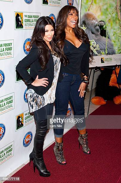 "Kim Kardashian and Wendy Williams attend the ""2010 Celebrity Skee Ball Tournament"" to benefit the Dian Fossey Gorilla Fund International at Dave and..."