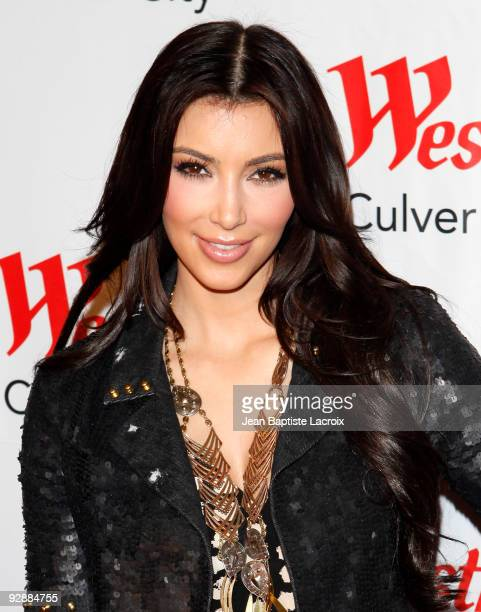 Kim Kardashian appears at 'Westfield Culver City Hosts OK Magazine's Kim Kardashian' on November 7 2009 in Culver City California